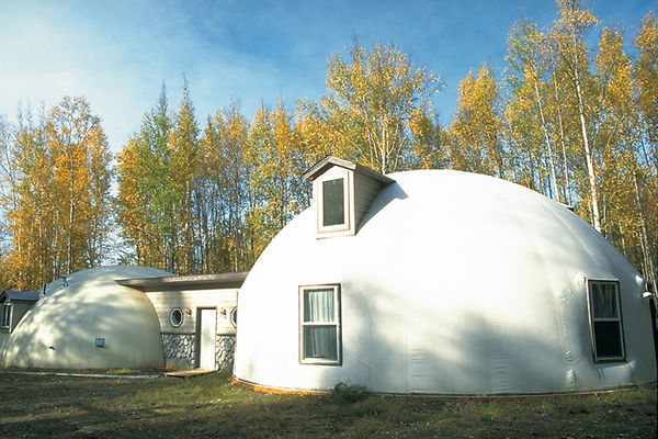 Low cost green home monolithic domes - Exterior house painting anchorage ...