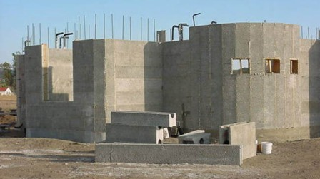 Low cost green home rastra composite insulating concrete for Icf house cost