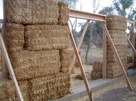 building straw bale house walls